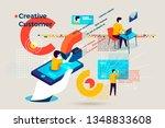 vector concept illustration   ... | Shutterstock .eps vector #1348833608