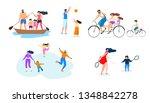 vector flat illustration family ...   Shutterstock .eps vector #1348842278