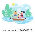 summer weekend family on... | Shutterstock .eps vector #1348843328