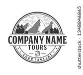adventure logo design.... | Shutterstock .eps vector #1348846865