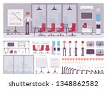 meeting room in the business... | Shutterstock .eps vector #1348862582