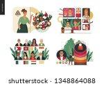 technology 2 set   modern flat... | Shutterstock .eps vector #1348864088