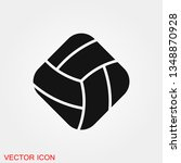 volleyball icon vector sign... | Shutterstock .eps vector #1348870928
