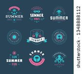 summer holidays labels and... | Shutterstock .eps vector #1348888112