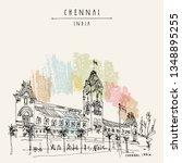 chennai  madras   tamil nadu ... | Shutterstock .eps vector #1348895255
