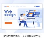 landing page template of web... | Shutterstock .eps vector #1348898948