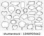 set of comic speech bubbles.... | Shutterstock .eps vector #1348905662