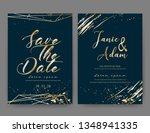 wedding invitation card  save... | Shutterstock .eps vector #1348941335