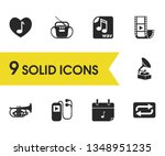 music icons set with video clip ...