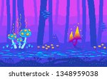 pixel art fairy tale forest at...