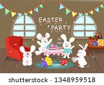 easter party  greeting card ... | Shutterstock .eps vector #1348959518