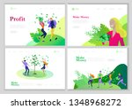 landing page template happy... | Shutterstock .eps vector #1348968272