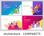 landing page template with... | Shutterstock .eps vector #1348968275