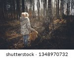 a lonely sad child in the... | Shutterstock . vector #1348970732