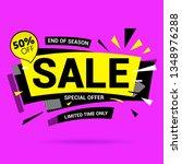 sale banner template design on... | Shutterstock .eps vector #1348976288
