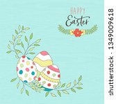 happy easter holiday... | Shutterstock .eps vector #1349009618