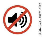 do not make a loud noise. no... | Shutterstock .eps vector #1349010122
