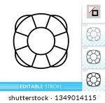 lifebuoy thin line icon.... | Shutterstock .eps vector #1349014115