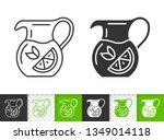 glass jug black linear and... | Shutterstock .eps vector #1349014118