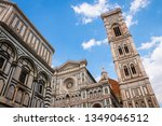 Florence Cathedral Facade next to Giotto
