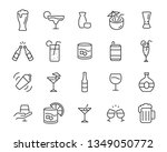 set of alcohol icons  such as... | Shutterstock .eps vector #1349050772