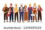 group portrait of cute happy... | Shutterstock .eps vector #1349059235