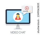 vector illustration of video...   Shutterstock .eps vector #1349062835