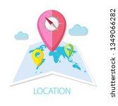 vector illustration of location ... | Shutterstock .eps vector #1349066282