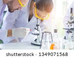 research teams in health... | Shutterstock . vector #1349071568