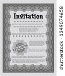 grey vintage invitation. beauty ... | Shutterstock .eps vector #1349074658