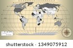 world map on a gold background | Shutterstock .eps vector #1349075912