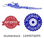 best service collage of blue... | Shutterstock .eps vector #1349076095