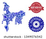 best service composition of... | Shutterstock .eps vector #1349076542