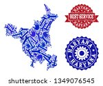 best service collage of blue... | Shutterstock .eps vector #1349076545