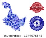 best service collage of blue... | Shutterstock .eps vector #1349076548