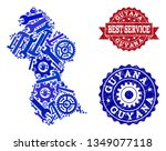 best service collage of blue... | Shutterstock .eps vector #1349077118