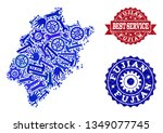 best service collage of blue... | Shutterstock .eps vector #1349077745