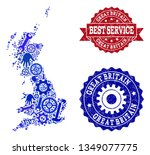 best service collage of blue... | Shutterstock .eps vector #1349077775