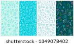 seamless pattern set of medical ... | Shutterstock .eps vector #1349078402