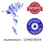 best service collage of blue... | Shutterstock .eps vector #1349078555