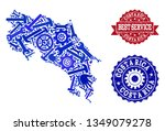 best service collage of blue... | Shutterstock .eps vector #1349079278