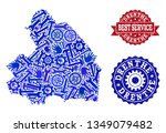 best service collage of blue... | Shutterstock .eps vector #1349079482