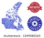 best service collage of blue... | Shutterstock .eps vector #1349080265