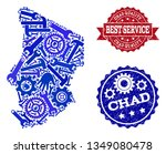 best service collage of blue... | Shutterstock .eps vector #1349080478