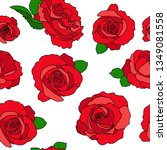 white seamless pattern with red ...   Shutterstock .eps vector #1349081558