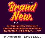 brand new cartoon text effect...   Shutterstock .eps vector #1349113322