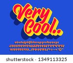 retro bold text effect with... | Shutterstock .eps vector #1349113325