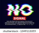 modern distorted glitch screen...   Shutterstock .eps vector #1349113355