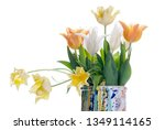 close up white  orange and...   Shutterstock . vector #1349114165