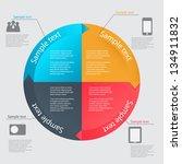 infographic template vector... | Shutterstock .eps vector #134911832